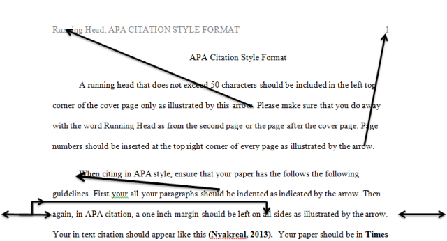Sample Apa Citation Paper Archives Kenyayote