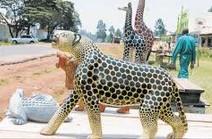 Tabaka soapstone giraffe carvings