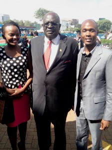 SONU Organizing Secretary  Steve Biko (right)