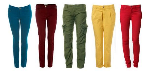 colourd pants