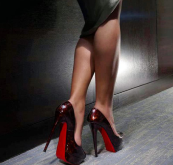 Dangling her red louboutin under desk part 3 - 5 9