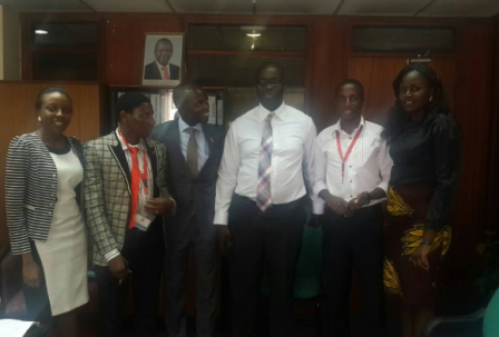 Kenya University Students leaders with Kibra mp Hon. Ken Okoth (center). Photo source Benmark Nganga