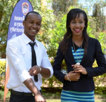 Mr. and Miss Mount Kenya University- Morris Ndonye  and Neila Ngina Khalid
