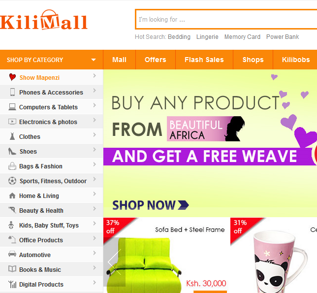 Kilimall is now the fastest rising online shopping mall in for Top 10 online shopping sites in the world