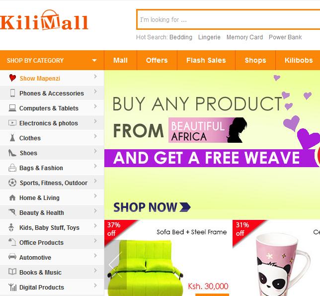 kilimall online shopping in kenya