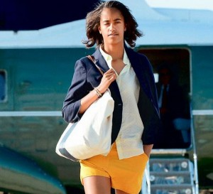 President Barack Obama's daughter Malia Obama