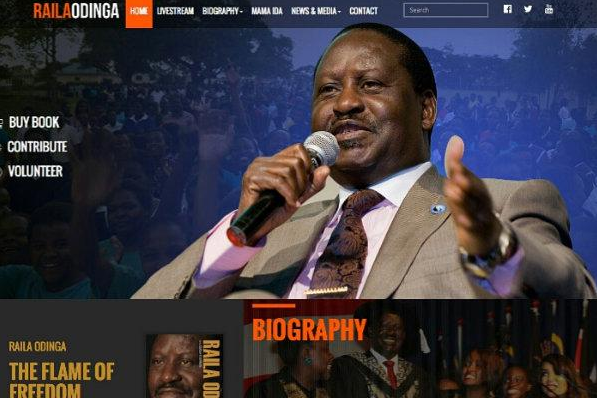Raila Odinga official website www.rao.co.ke