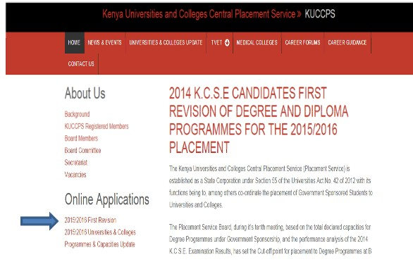 kuccps online revision and application for admission placement rh kenyayote com