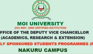 moi university nakuru campus courses