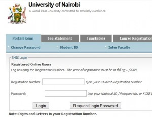 university of nairobi online room booking