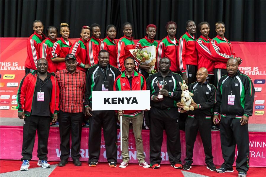 Kenya Women's Volleyball team (Malkia Strikers)