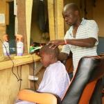 Young entrepreneur focus of the week is Buken Makokha who  earns big through his barber shop-Kinyonzi