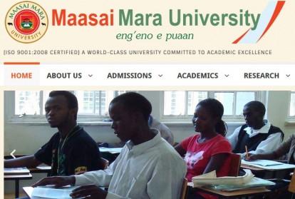 Maasai Mara university admission letters