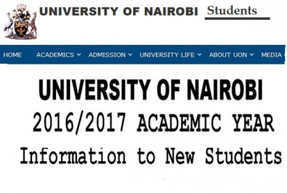 KUCCPS University of Nairobi admission list, reporting dates and requirements for first years, 2015