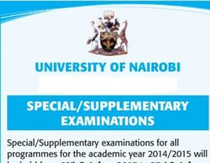 supplementary exams dates uon