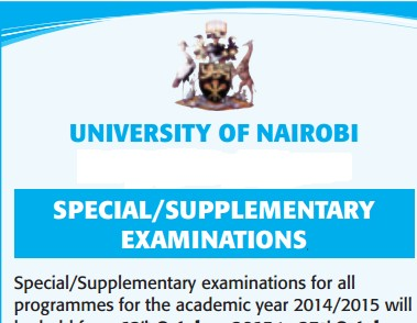 supplementary exams dates uon