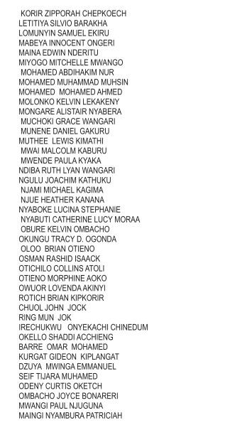 university of nairobi first years52