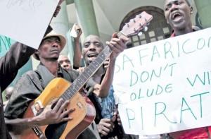 artists protest safaricom