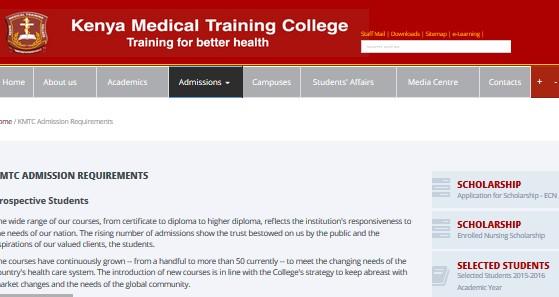 kmtc admission requirement