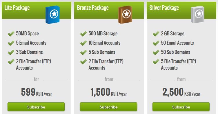 safaricom web hosting kenya