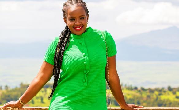 Fashion blogger Caroline Kibati
