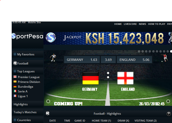 sportpesa betting