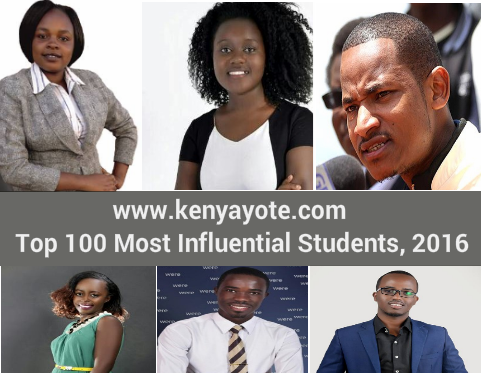 top 100 influential students kenya