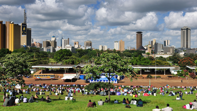 Nairobi City View from Uhuru Park, Kenya