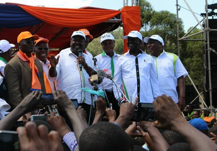 Kenya, Nasa alliance flag bearers raila and musalia