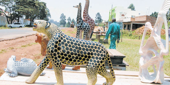 Kisii soapstone tabaka carvings mining animals in kenya
