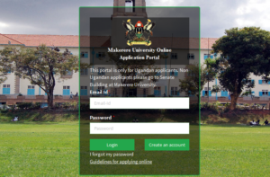 Makerere University student portal application for admission