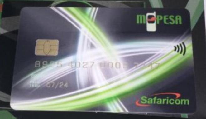 Safaricom Lipa na mpesa card, debit visa payment card