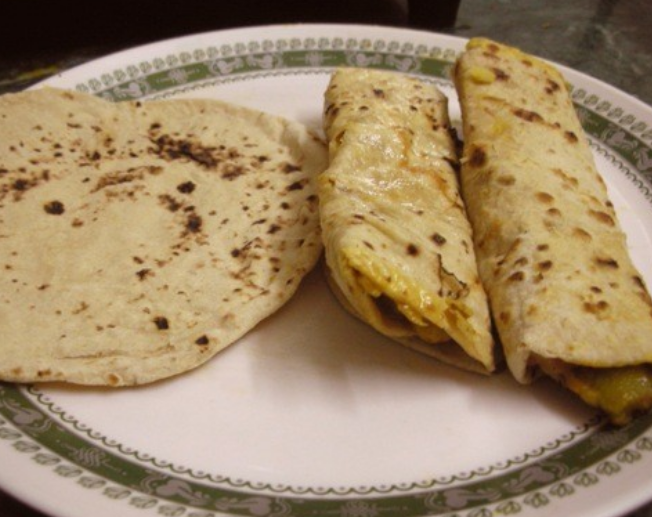 Typical Kenya Chapati meal for breakfast