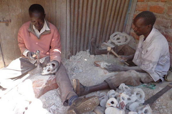 Residents Carving Soapstone in Tabaka, Kisii