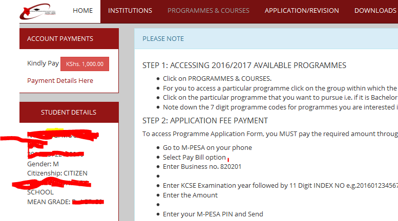 new kuccps online revision of courses for placement