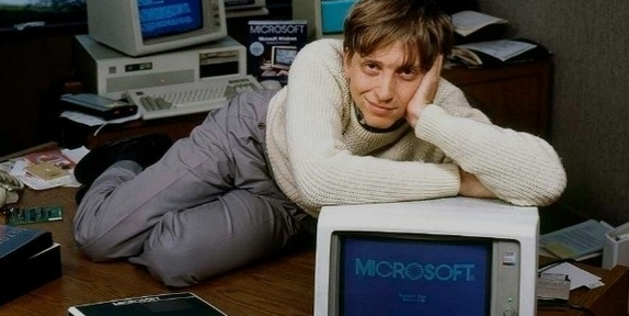 Microsoft Founder Bill Gates at his early stages in Harvard university