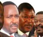 Kenya NASA party colaition members raila , kalonzo, musalia, wetangula