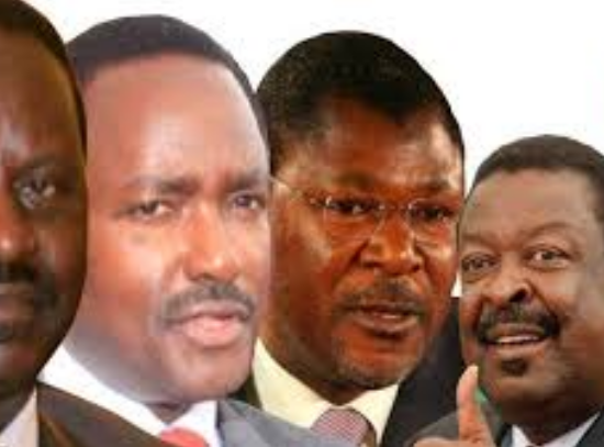 Kenya NASA party colaition members raila , kalonzo, musalia, wetangula