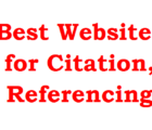 best websites for citation, referencing