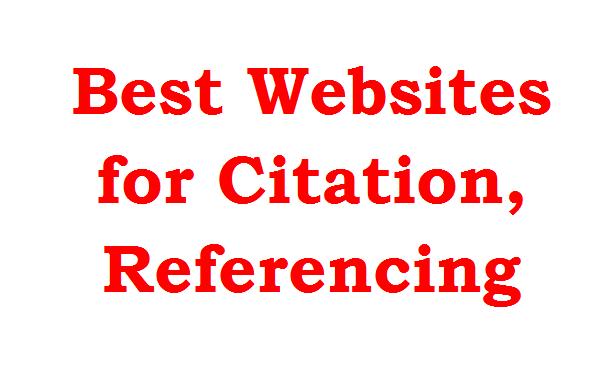 best websites for citation, referencing