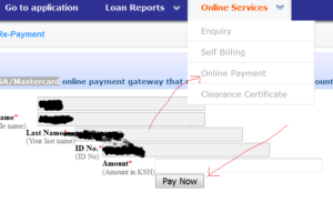 HELB loan online payment through Visa and MasterCard abroad