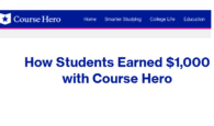 how to make money online with course hero semerster study notes