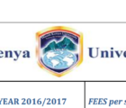 MKU mount kenya university fee structure per semester