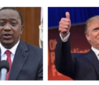 president uhuru kenyatta and Donald j trump message speaks