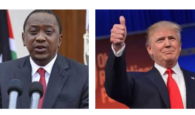 president uhuru kenyatta and Donald j trump message speaks