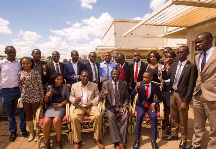 raila odinga meets university student leaders