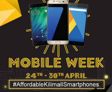 Kilimall Kenya mobile week April 2017 deals, offers, and promotions