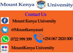 mount Kenya university may september intake