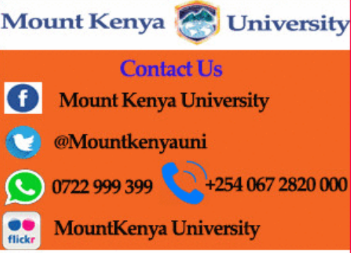mount Kenya university may september intake