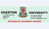 Egerton University 36th Graduation List and Ceremony, 16th June, 2017